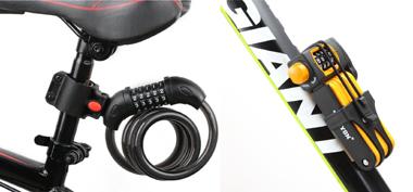 ロードバイクのシートポストやフレームに収納できるタイプのカギ