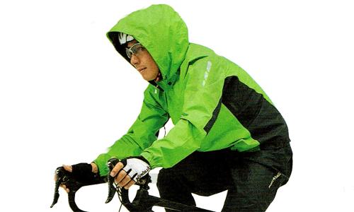 スポーツバイク用のレインジャケット参考画像