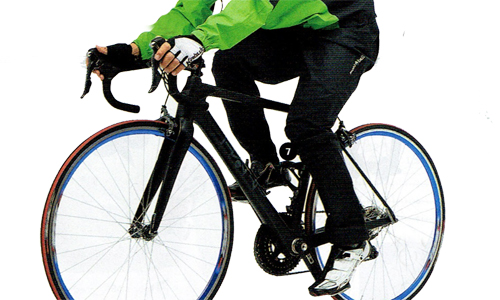 スポーツバイク用のレインパンツ参考画像