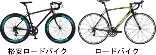 格安ロードバイクと普通のロードバイクの違い