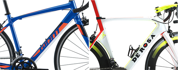 安いロードバイクと、高級ロードバイクのワイヤー取り回しの違い