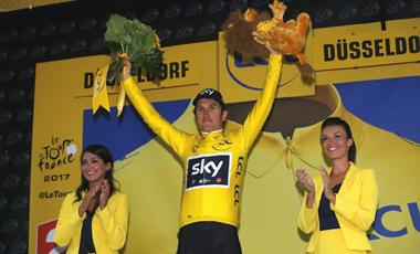2017年ツール・ド・フランス 第1テージ優勝のゲラント・トーマス