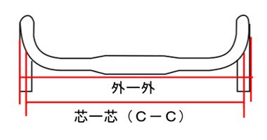 ロードバイクのドロップハンドル幅の確認方法