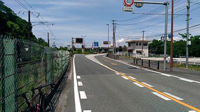 葦北への無料高速道路入り口