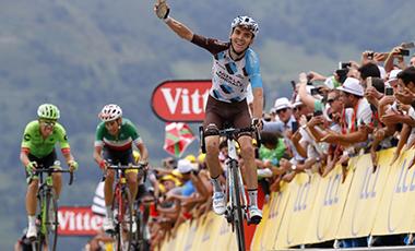 2017年ツール・ド・フランス 第12テージ優勝のロマン・バルデ