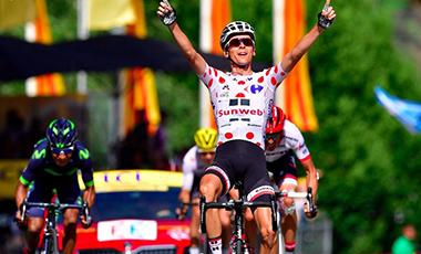 2017年ツール・ド・フランス 第13テージ優勝のワレン・バルギル