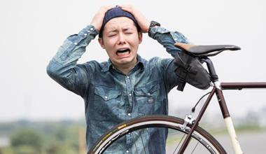 スポーツ自転車あるある 立て続けにパンク