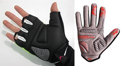 ロードバイクで手のしびれや痛みを解消する方法 サイクルグローブのクッションを厚くする