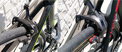 エントリーロードバイクと高級ロードバイク ブレーキの性能