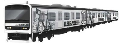 スポーツ自転車と一緒に乗れる特殊電車B.B.BASEのスタイリッシュな見た目