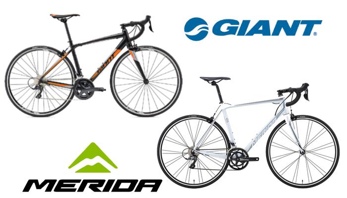 初心者でも購入しやすい一流自転車メーカー!ジャイアントとメリダ