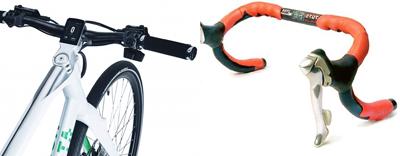 ロードバイクとクロスバイクの違い ドロップハンドルと一文字ハンドル