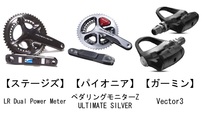新発売のパワーメーターの特徴!ステージズ/パイオニア/ガーミン