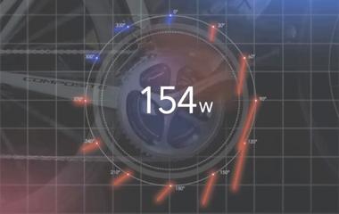 パイオニア/ペダリングモニターZ ULTIMATE SILVERのベクトル表示