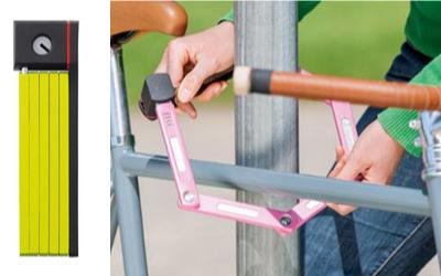 スポーツ自転車の折りたたみ式ブレードロックキー ABUS(アブス)/U GRIP BORDO