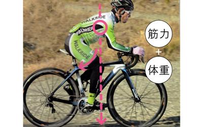 ロードバイクで速く走るための適正な重心位置